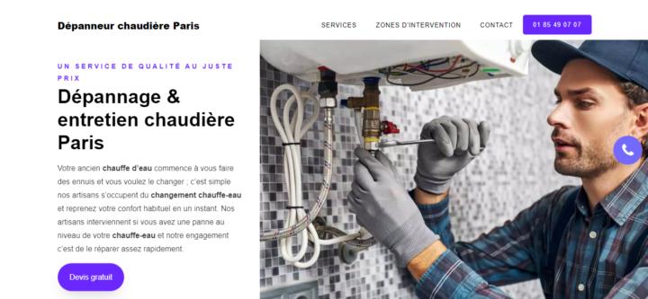 Dépanneur chaudière Paris