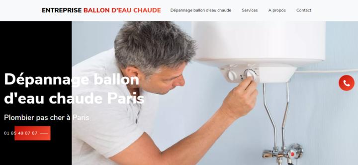 Entreprise ballon d'eau chaude Paris
