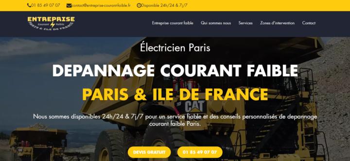 Entreprise courant faible Paris