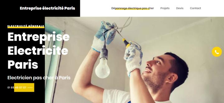 Entreprise électricité Paris