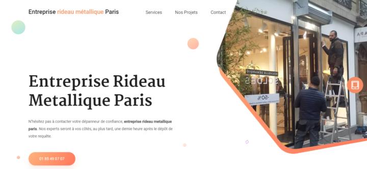 Entreprise rideau métallique Paris