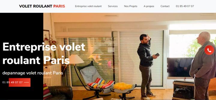 Entreprise volet roulant Paris